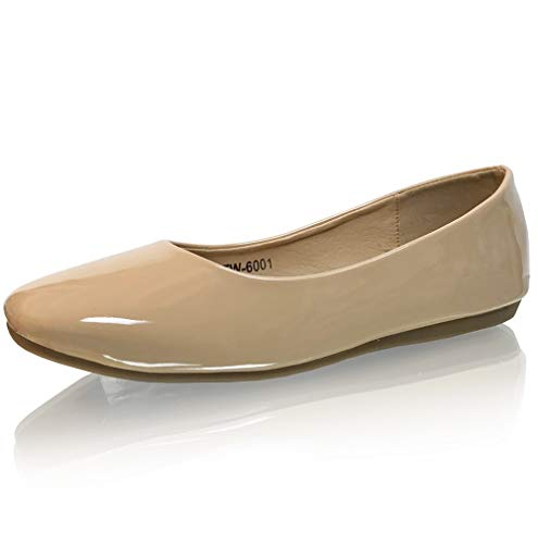 - Marc Defang New York Girl's Tween Pre-Teen Nude Patent Leather Ballet Flats