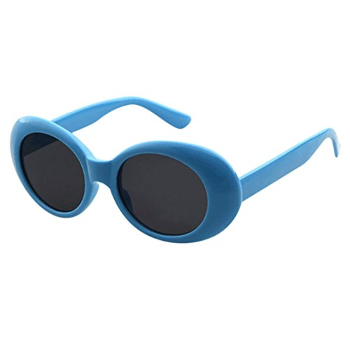 Vintage Clout Goggles Unisex Sunglasses Rapper Oval Shades Grunge Frames Glasses