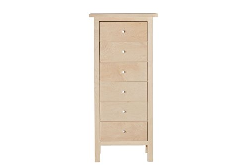 Urbangreen HUD4MUnf Hudson Lingerie Chest in Maple, Unfinished