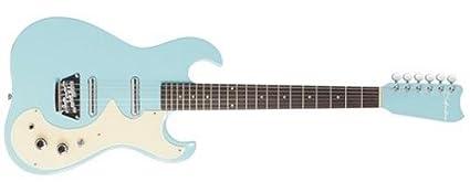 Amazon Com Silvertone Classic 1449 Bdlb Solid Body Electric Guitar