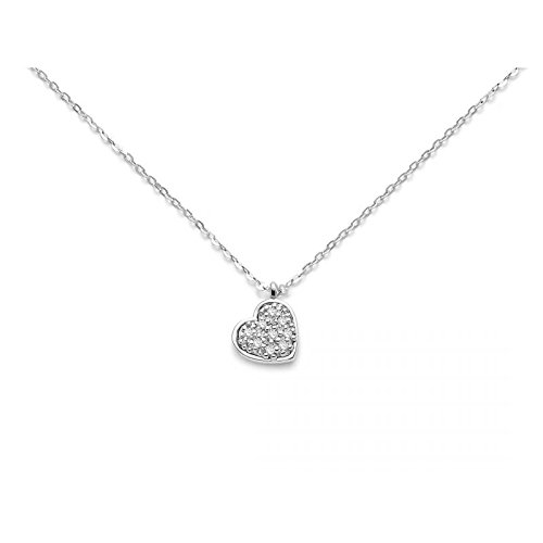 Miluna Collier Symboles CLD3808 Or Blanc Diamant