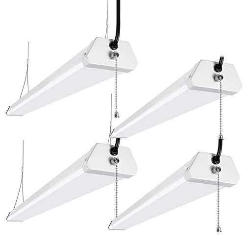 Lightdot 48inch 50W LED Shop Garage Light Plug and Play Pull Chain 5000K 5500LM 50W=250W