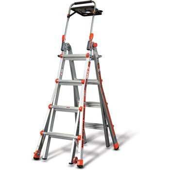 Little Giant, MegaMax 17 Ladder W/air Deck Extend to 15' Height. Includes Accessory Portals, AirdeckTM Tool Tray, Safety Handrail