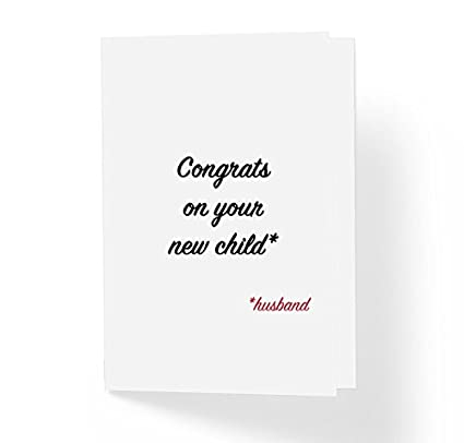 Funny Wedding Cards.Funny Sarcastic Wedding Card Congrats On Your New Child Husband 5 X 7 Blank Inside With Envelope Witty Love Cards For Bride And Groom Pack Of