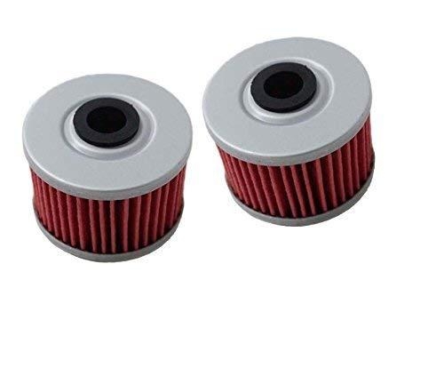 Paquete de 2 hjgnbiohg Filtro de Aceite para Hf113 Kn113 TRX250 CBF250 Trx400x Trx300x Atc350x Trx300ex Rx350tm