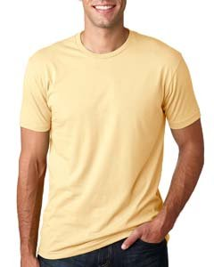 Next Level Mens Premium Fitted Short-Sleeve Crew T-Shirt - XX-Large - Banana Cream