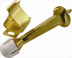 Belwith/Hickory Hardware PBH0224 Door Stop With Holder - Bright Brass