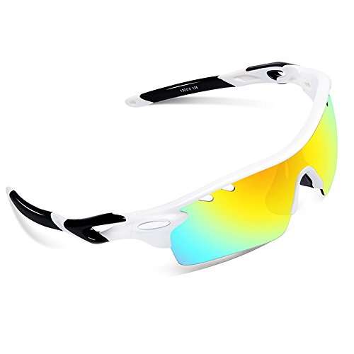 Ewin E01 Polarized Sports Sunglasses with 3 Interchangeable Lenses for Men Women Golf Baseball Volleyball Fishing Cycling Driving Running - Sunglasses 2017 Golf Best