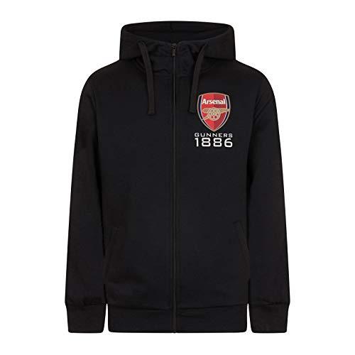 Arsenal FC – Sudadera oficial con capucha y cierre de cremallera – Para hombre – Forro polar