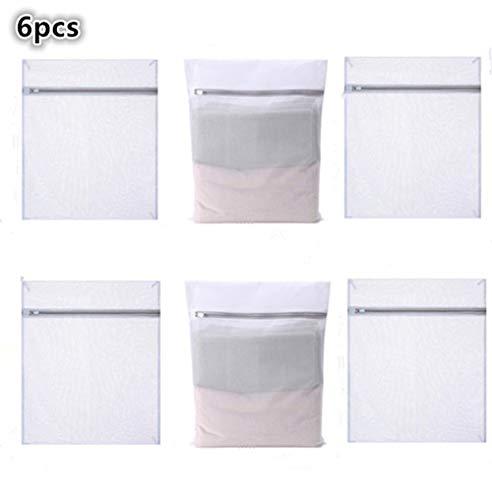 Medium Laundry Mesh Wash Bag - Fine Weave Fabric, Zipper Closure, Washing Machine and Dryer Safe, Protect Lingerie, Delicates, Underwear, Bras, Leggings - Great Travel Bag - White (6)