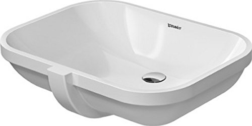 Tap Platform - Duravit 0338560000 Undercounter basin 56 cm D-Code whi with of, without tap-platform, White