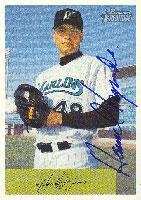 Hansel Izquierdo Portland Sea Dogs - Marlins Affiliate 2002 Bowman Heritage Autographed Card - Minor League Card. This item comes with a certificate of authenticity from Autograph-Sports. Autographed