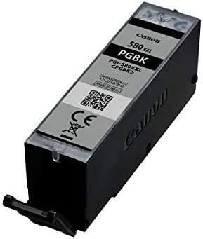 Canon PGI-580XXL PGBK Cartucho de tinta original Pigmento Negro XXL para impresora de inyeccion de tinta PIXMA TS9150, TS6151, TS9155, TS6150, TS8151, ...