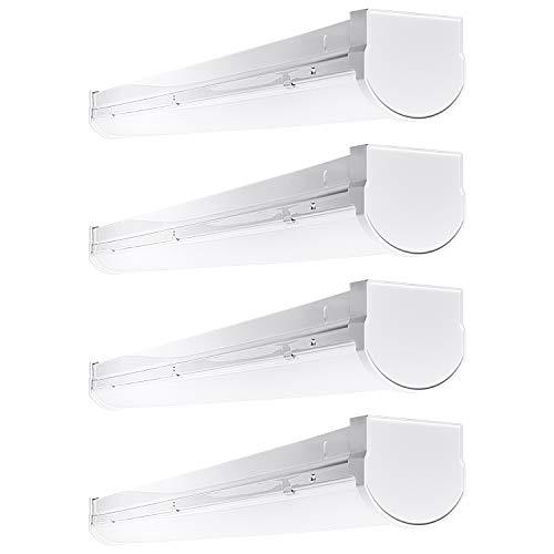 Slim Led Garage Lights: Luxrite 3FT Slim Linear LED Shop Light Fixture, 26W, 3000K