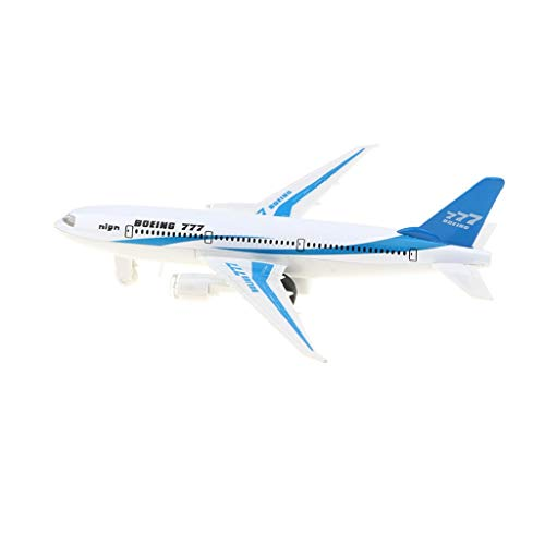 FRECI Airplane Model Toy Boeing 777 Airplane Model with with Sound & Light Model Toy for Kids, Adults Collectibles - Blue