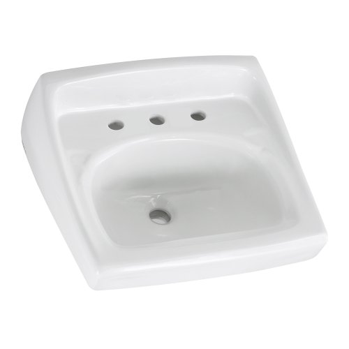 American Standard 0356.915.020 Lucerne 8-Inch Faucet Spread Wall-Hung Lavatory Less Overflow, - American Lucerne Standard Wall