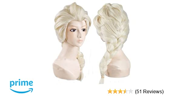 Amazon.com: Hiliss Cosplay Costume Wig Party Hair for Elsa (Light Blonde): Clothing