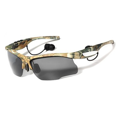Sports Outdoor Sunglasses Bluetooth Headphones Polarized Glasses Headset with Handsfree Answer Phone Music Mp3 Player for Android IOS Smartphones Camo (Bluetooth Glasses With Mp3)