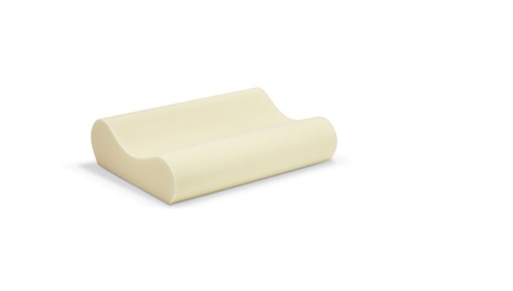 Sleep Innovations Memory Foam Contour Pillow with Cotton Cover, Made in The USA with a 5-Year Warranty - Queen Size