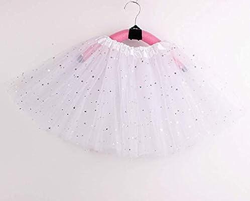 Haibuy Falda de tutú Arcoiris Girls Falda de Ballet de Lentejuelas ...