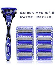 new-schick-hydro-5-shaving-starter-gift-set-for-men-wiht-1-hydro-5-razor-for-men-and-9-count-for-men