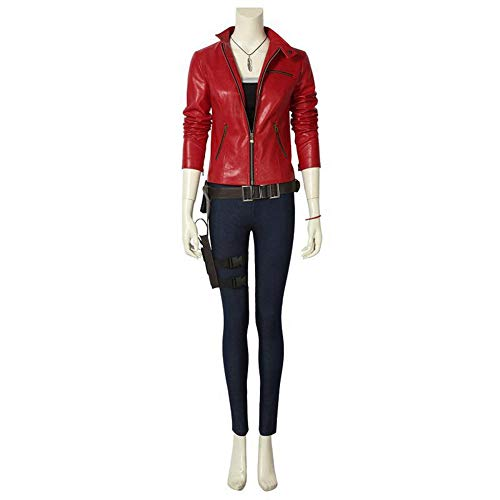 Resident Evil 2 Cosplay Remake Biohazard Claire Redfield Costume Leather Jacket Halloween Adult