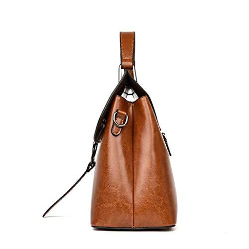 donna Taglia tracolla da Borsa Colore borsa MARRONE da tracolla a a viaggio unica Taglia Nero borsa moda fw6wgqH5