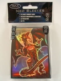 Sleeves Protection Gaming Max (YuGiOh MAX Protection 50 Count Gaming Card Sleeves Red Dragon Robo Fury)