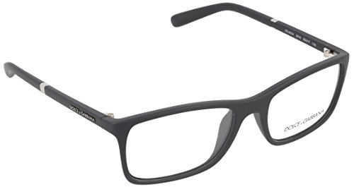 Dolce & Gabbana Men's DG5004 Eyeglasses Black Rubber 53mm