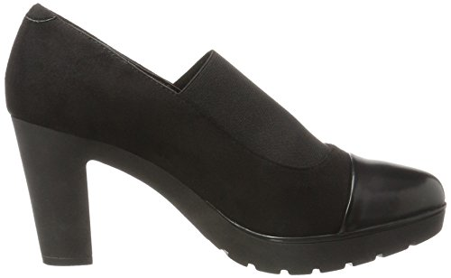 NR RAPISARDI Damen N200 Pumps Schwarz (Black Chamois/Black Boston 01CMBT-E)