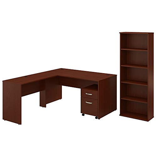 Traditional Cherry Bookcase Cabinet (Bush Furniture Commerce 60W L Shaped Desk with Mobile File Cabinet and Bookcase in Autumn Cherry)