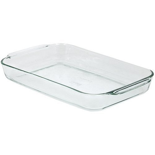 3 X Pyrex Bakeware 4.8 Quart Oblong Baking Dish, Clear