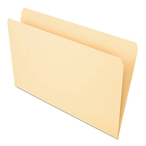 Pendaflex 753 File Folders, Straight Cut, Top Tab, Legal, Manila (Box of -