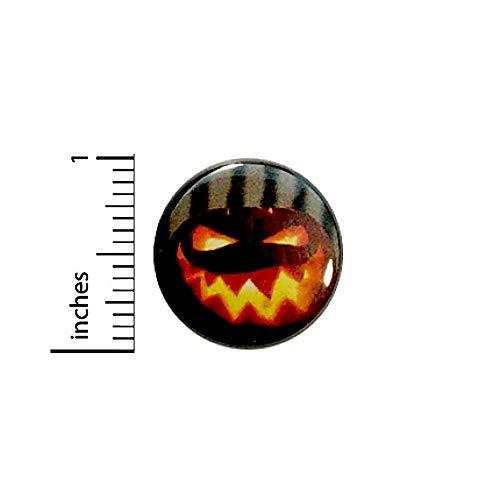 Jack O' Lantern Button Pin Halloween Pumpkin Carving