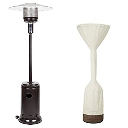 AmazonBasics Havana Bronze Commercial Patio Heater And Standup Patio Heater  Cover Set