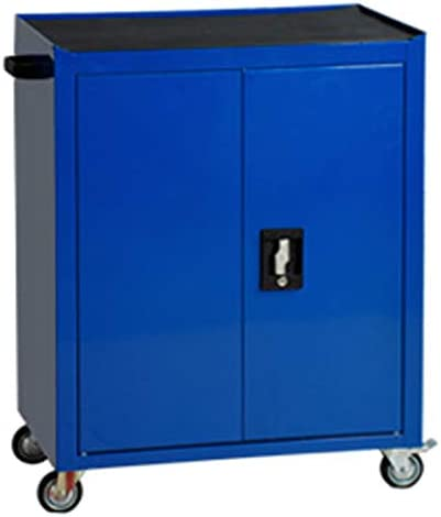工具カート 耐久性と頑丈なツールキャビネットワークショップモバイルトロリー工業用グレード多機能ハードウェアブリキ自動車修理工場トロリー マスストレージ (Color : Blue, Size : 63x40x81cm)