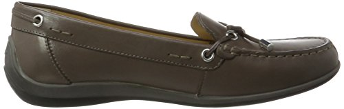 GeoxD Yuki A - Mocasines Mujer Gris (Anthracite)