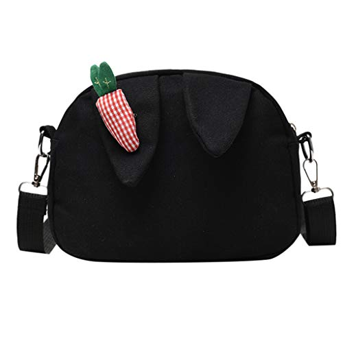 Pengy Woman Shoulder Bag Literary Canvas Ear Bag Radish Cute Backpack Messenger Bag