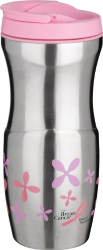 Trudeau Lulu 16-Ounce Stainless Steel Tumbler, Pink