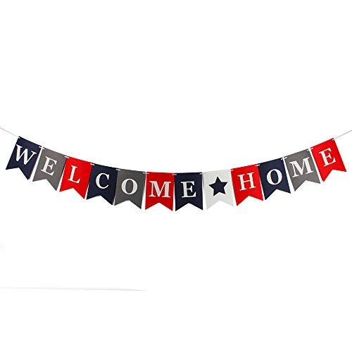 Welcome Home Banner for Family Party Baby Shower Decorations Photo Props