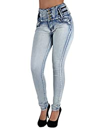 Fashion2Love Colombian Design Butt Lifter High Waist Skinny Plus & Junior Size Jeans