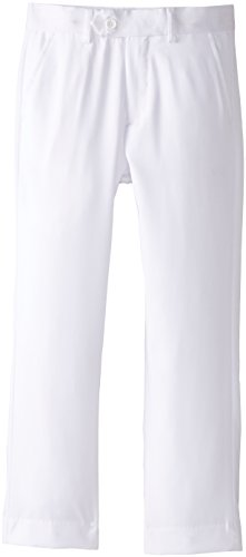 Isaac Michael Big Boys' Solid Dress Pants, White, 12 -