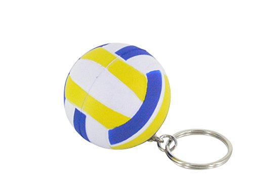 Sepia New Cute Blue Rubber Mini Volleyball Shaped Key Chain