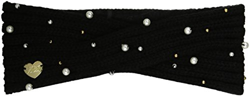 Betsey Johnson Women's Crazy For Pearls Headband, black, One Size