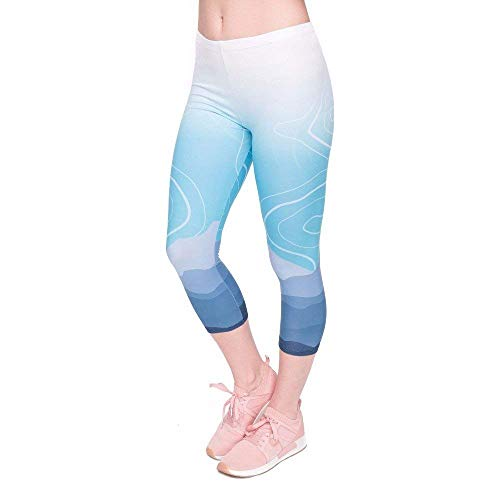 Tee Pantaloni 4 Wild Lgc45798 Yoga Qualità Calf Leggings Moutain Fitness Capri Di Fashion Pants Allenamento Mid Women Da 3 Saoye Summer Giovane Alta Stampa 0wAqpHn5