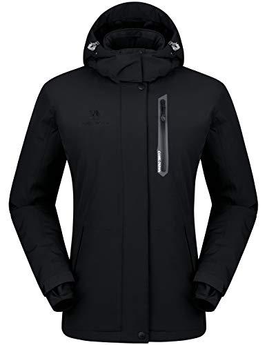 - CAMEL CROWN Women's Mountain Snow Waterproof Ski Jacket Detachable Hood Windproof Fleece Parka Rain Jackt Winter Coat (Black-1, M)