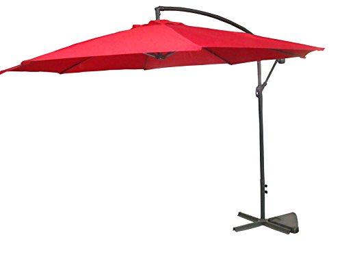 Palm Springs 10ft Offset Garden Umbrella - Red