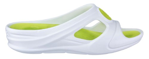 Wock Senses Aqua Professional Footwear - Compensated Heel ; Drainage Channels; Impact Reduction; Super Light - White - Green - UK : 7 ; EUR : 40 oWzOK