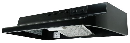 Price comparison product image Air King AV1306 Advantage Convertible Under Cabinet Range Hood with 2-Speed Blower and 180-CFM,  7.0-Sones,  30-Inch Wide,  Black Finish