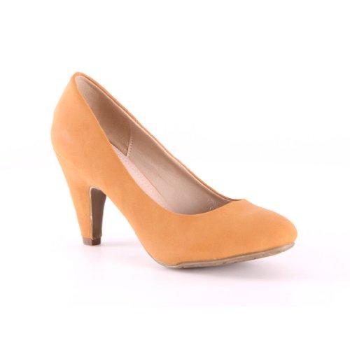 Womens Pumps High Heels Shoes Camel 6TsfRPG